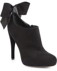 Vera Wang Lavender - Jude Suede Bow Ankle Boots - Lyst
