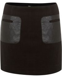Cutie Faux Leather Pocket Skirt - Lyst