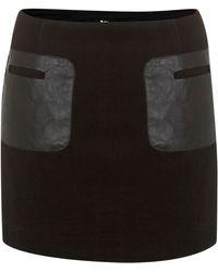 Cutie Faux Leather Pocket Skirt black - Lyst