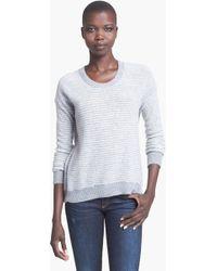 Enza Costa Stripe Cashmere Sweater - Lyst