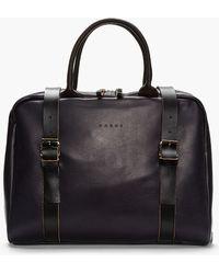Marni - Dark Purple Buffed Leather Laptop Bag - Lyst