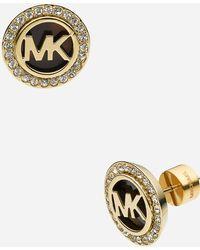 MICHAEL Michael Kors Michael Kors Monogram Stud Earrings - Lyst