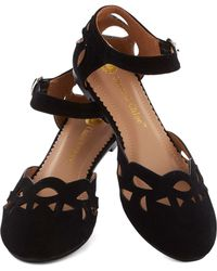 ModCloth Seedless Romantic Flat in Black - Lyst