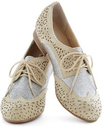 ModCloth Glimmer Galore Flat - Lyst