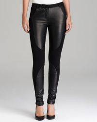 Rebecca Minkoff  Telescope Leather Patch Pants - Lyst