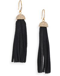 ABS By Allen Schwartz - Leather Tassel Earrings - Lyst