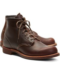 Brooks Brothers Red Wing Brown Pebble Leather Boots - Lyst