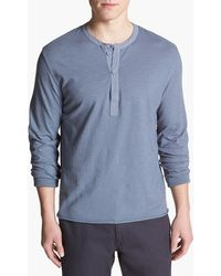 Grayers Z Twist Long Sleeve Henley - Lyst