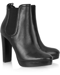 Kors by Michael Kors - Egan Elasticated Leather Ankle Boots - Lyst