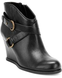 Me Too - Breanna Wedge Booties - Lyst