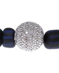 Ruby Kovo - Blue Bead Diamond Bracelet - Lyst