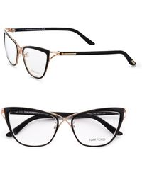 Tom Ford Catseye Reading Glassesblack - Lyst