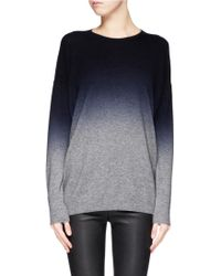 Vince Dip-dyed Wool-cashmere Sweater - Lyst