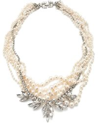 Tom Binns Tangled Pearl and Crystal Necklace - Lyst