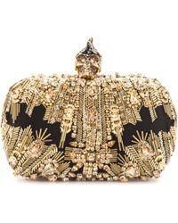 Alexander McQueen Skull Crystalembellished Box Clutch - Lyst