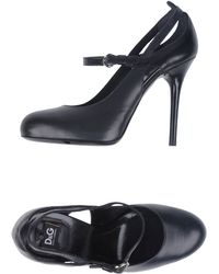 D&G Black Closedtoe Slipons - Lyst