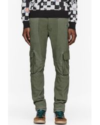 Facetasm Olive Patchworked Army Pants - Lyst