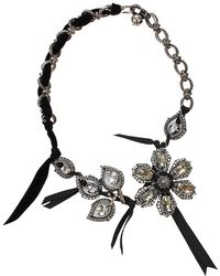 Lanvin - Flower and Leaf Necklace - Lyst