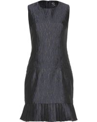 McQ by Alexander McQueen Pleated Jacquard Dress - Lyst