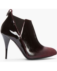 McQ - Burgundy Patent Leather Ombre Boots - Lyst