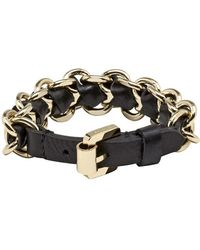 Mulberry Black Chain Bracelet - Lyst