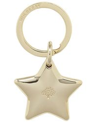 Mulberry Gold Star Keyring - Lyst