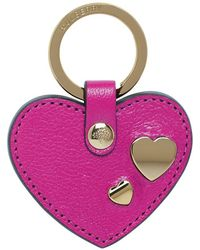 Mulberry Heart Rivet Keyring - Lyst