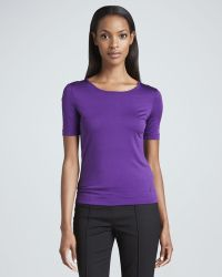 Rena Lange Stretch Silk Jersey Top Purple - Lyst