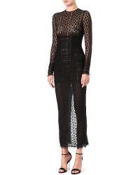 Alessandra Rich Leopard Lace Gown - Lyst