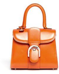 Delvaux Brilliant Mini Box Leather Shoulder Bag - Lyst