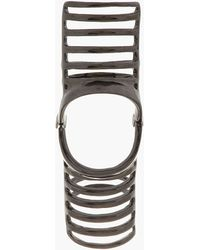 Dominic Jones - Black Rhodium Nama Cage Ring - Lyst