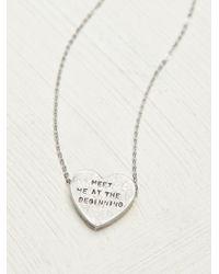 Erica Weiner - Etched Heart Necklace - Lyst