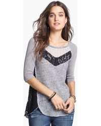 Free People Mix Up Hacci Top - Lyst