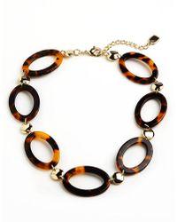 Lauren by Ralph Lauren - Tortoise Shell Interlocking Necklace - Lyst