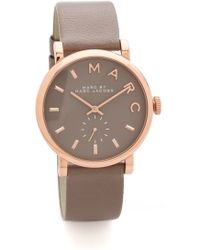 Marc By Marc Jacobs Leather Baker Watch - Brown/Rose Gold brown - Lyst