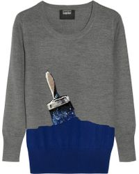 Markus Lupfer Paint Brush Sequined Merino Wool Sweater - Lyst