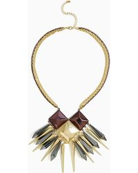 Nasty Gal Golden Lineage Necklace - Lyst