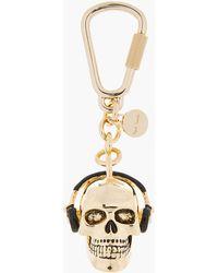 Paul Smith - Gold Dressed Skull Pendant Keychain - Lyst