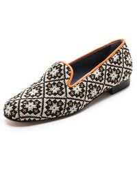 Penelope Chilvers - Dandy Needlepoint Slippers - Lyst