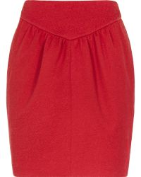 Reiss Charlene Textured Skirt - Lyst