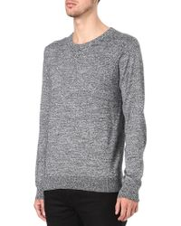 Sandro Distortion Sweatshirt Grey - Lyst