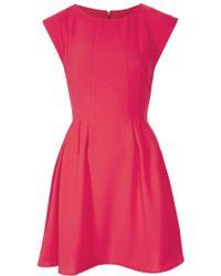 Topshop Crepe Seam Flippy Dress - Lyst