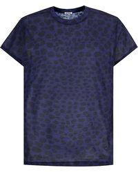 Acne Studios Fine Print Animal T-shirt - Lyst