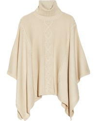 Alice By Temperley | Octavia Cable Knit Wool Blend Poncho | Lyst