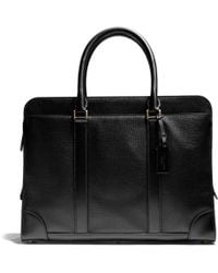 Coach Crosby Slim Brief in Box Grain Leather - Lyst