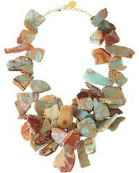 Devon Leigh Opal Earth Doublestrand Necklace - Lyst