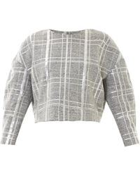 Elizabeth and James - Beroe Metallic Plaid Sweatshirt - Lyst