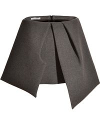 J.W. Anderson Grey Sponge Bow Mini Skirt  - Lyst