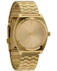 Nixon - Unisex The Time Teller Tonneau Stainless Steel Bracelet Strap Watch - Lyst