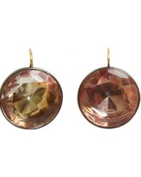 Olivia Collings - Citrine Large Button Earrings - Lyst